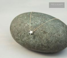 Tiny Star Necklace  Small Sterling Silver Star by LayeredAndLong, $27.00