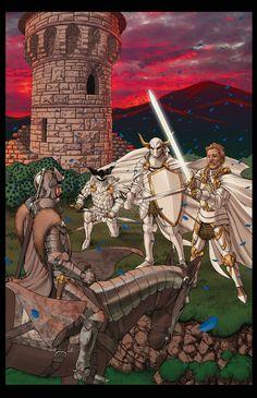 Tower of Joy. Eddard vs Kingsguardsmen: Lord Commander White Bull, The Sword of the Morning & Ser Oswell Whent
