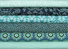 Love these colors and patterns. It's Amy Butler, but any old fabric that's similar would do :)