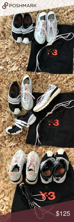 2e10b2a097019 Athletic Sneakers Adidas Y-3 by Yohji Yamamoto Pre- owned  size small