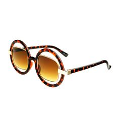 Cool Cut Out Lens Retro Style Womens Round Sunglasses R1120
