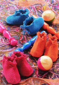 Crochet des Chaussons pour bebe (Вязание крючком)