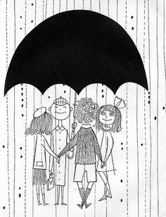A Kiss Is Round, 1954, Illustrated by Vladimir Bobri (Bobritsky)