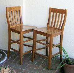 Pottery Barn Schoolhouse Chair Bar Stool