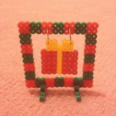 Perler bead Christmas framed gift by hamabeadpatterns123