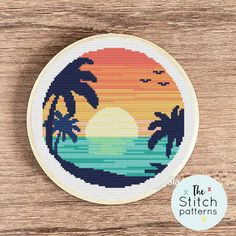 Landscape Cross Stitch Pattern, SET OF 10 Nordic Cross Stitch Patterns Modern Forest Cross Stitch Design Nature Embroidery summer embroidery Funny Cross Stitch Patterns, Cat Cross Stitches, Cute Cross Stitch, Cross Stitch Charts, Cross Stitch Designs, Cross Stitching, Cross Stitch Embroidery, Cross Stitch Thread, Embroidery Patterns
