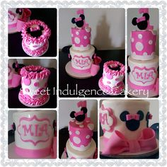 Minnie Mouse 1 st birthday cake...