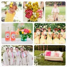 Pink Lemonade. Pink and yellow wedding ceremony ideas