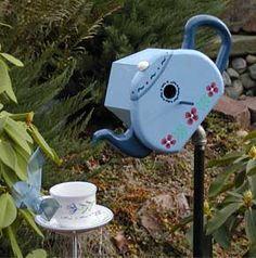 Cutie Cute DIY  Teapot Birdhouse and Teacup Birdfeeder