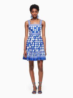 Lantern poplin flounce dress // Kiel James Patrick