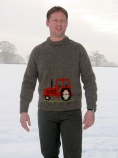 Knitting Pattern Tractor Jumper : 1000+ images about Tractors on Pinterest John deere tractors, Sweater knitt...