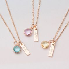 Are you interested in our personalised necklace gift? With our rose gold name necklace you need look no further.