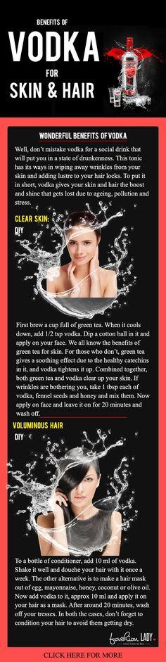 Benefits of Vodka for Skin & Hair