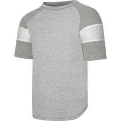Hanes X-Temp Boys' Short Sleeve Raglan T-Shirt, Size: Medium, Gray