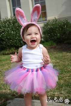 pink and purple tutu- easter egg hunt pictures
