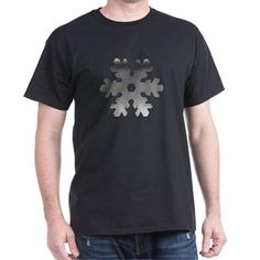Cool Unique Frozen Snowflake in monochrome T-Shirt> MonoChrome Frozen Snowflake Design> Victory Ink Tshirts and Gifts Cool T Shirts, Tee Shirts, Winter T Shirts, Snowflake Designs, Funny Outfits, Best Christmas Gifts, Monochrome, Shirt Designs, Mens Fashion