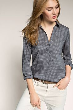 Esprit / dotted 100% cotton blouse