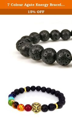 7 Colour Agate Energy Bracelet The Volcanic Beads Bracelet - The Male Lion. We are committed to provide customers with value for money products and attentive sincere service, since its inception has been its quality themselves freely to the United States, stylish and unique design, superb manufacturing process, and improve the service based on classic, constantly creative , showing extraordinary brand attributes.All along,Dream Alice always exquisite traditional craftsmanship and modern...