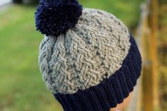Crochet Cable Hat Pattern Beanie Crochet Pattern by Inventorium