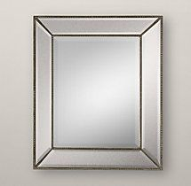 Venetian Beaded Mirror for powder room.  30x20 or 26x48 - need to check how much room you have above the sink.