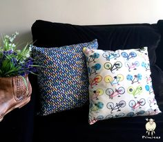 Sim, as bicicletas podem enfeita sua casa! Use almofadas!