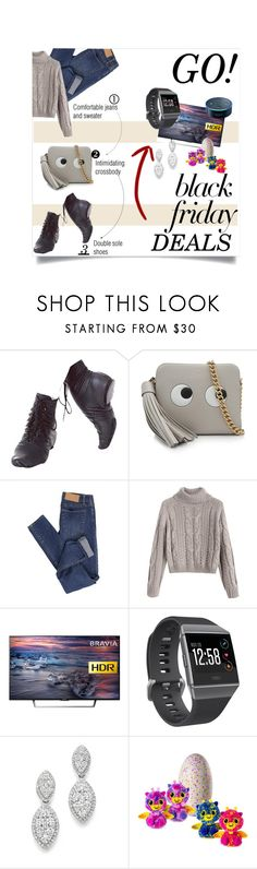 """""""Black Friday Deals"""" by sharonbeach ❤ liked on Polyvore featuring Anya Hindmarch, Cheap Monday, Sony, Fitbit, Bloomingdale's, Amazon and blackfriday"""