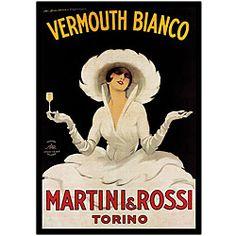 Marcello Dudovich 'Martini & Rossi' Canvas Art - Overstock™ Shopping - Top Rated Trademark Fine Art Canvas