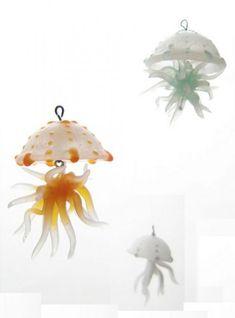 Three Little Jellyfish by Primatoide. Translucent Pardo Professional Art Clay