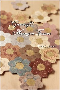 Patchwork *Pink Caramel*: hexagon flowers
