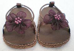 BROWN BEACHY SANDALS for 18 inch American Girl by dollupmydoll