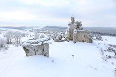 Mirov Castle, Poland. Zamek Mirów na Jurze Krakowsko Częstochowskiej
