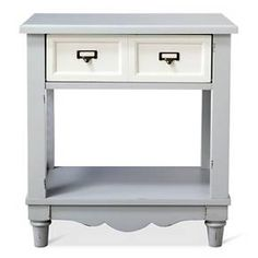 Install adorable in your entry way, living room or family room with the Westville Distressed Side Table Dove Grey Beekman 1802 FarmHouse. It's practical, too, with its convenient drawer and bottom shelf for keeping keys, chargers, devices and other stuff that's just too easy to misplace. And it plays well with other styles from traditional to contemporary.