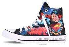 3228c8a03b67 Cool High Tops Nikes Dunks Adidas Converse Cartoon Shoes Superman The Chuck  Taylor All Star Dc Comic Print -