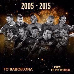 FC Barcelona ever-present in FIFA/FIFPro World XI  El FC Barcelona, sempre representat al FIFA/FIFPro World XI  El FC Barcelona, siempre representado en el FIFA / FIFPro World XI  #igersFCB #FCBarcelona @fcbarcelona