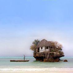 O Restaurante da Rocha em Zanzibar - The Rock Restaurant on Zanzibar
