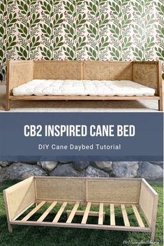 Rattan Daybed, Daybed Bedding, Diy Daybed, Daybeds, Pallet Daybed, Plywood Furniture, Diy Furniture, Asian Home Decor, Diy Home Decor