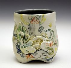 Hand painted ceramics by Michelle Summers - Inspiring handmade at #ImaginativeBloom :)