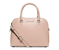 Women's Top-Handle Handbags - Michael Kors Cindy Medium Dome Satchel Handbag Ballet -- Click on the image for additional details.