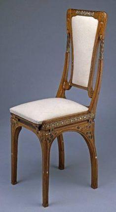 Art Nouveau Chair by Eugenio Quarti, Italy ca.1905