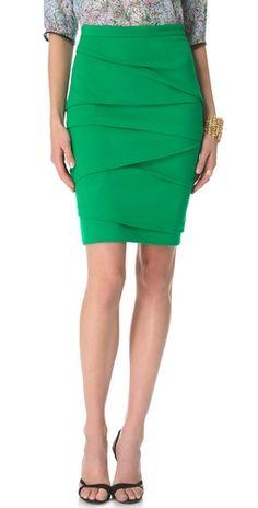 Fedt design - lidt for hidsig farve. Vigtigt: Det skal ikke være jersey kvalitet. Yigal Azrouel Compact Jersey Skirt