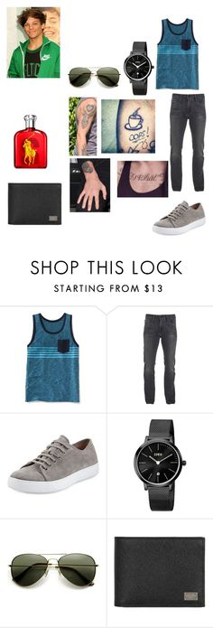 """Louis Tomlinson's outfit for day in Dublin, Ireland"" by onedirectionforever1297 on Polyvore featuring Old Navy, Calvin Klein, Vince, KENNY, Dolce&Gabbana and Ralph Lauren"