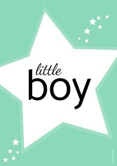 Plakat dla dzieci little boy