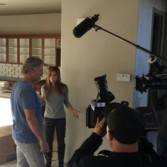 Behind the scenes filming. What do you think Amie is saying? #FlippingVegas