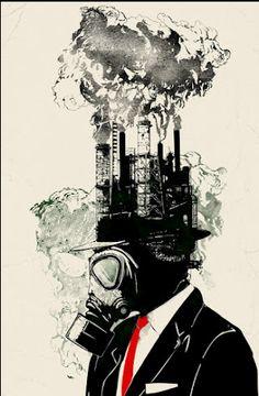 Dean: Modern art for your walls. Business Man by Sebastian Govino Political Art, Art Graphique, Dark Art, New Art, Concept Art, Cool Art, Art Drawings, Art Projects, Street Art