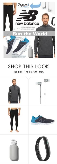 """""""Run the World in New Balance"""" by miee0105 ❤ liked on Polyvore featuring New Balance, Master & Dynamic, bkr, Fitbit, men's fashion, menswear and NewBalance"""