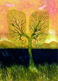 Collagraph Printmaking Breathe by Susanne Clark