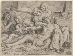 "Carracci, Annibale Bolognese, 1560 - 1609 Pietà (the ""Christ of Caprarola"") 1597 etching, engraving and drypoint"