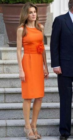 Letitia tubino arancio