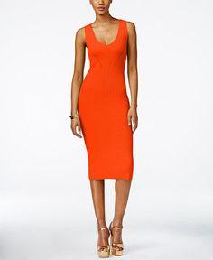 MICHAEL Michael Kors Sleeveless Bodycon Sweater Dress - Dresses - Women - Macy's