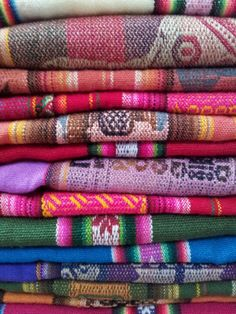 fabric in Salta ARGENTINA.great way to add portable colour to furniture Textile Fabrics, Home Textile, Bolivia, Textures Patterns, Print Patterns, Embroidery Techniques, Beautiful World, South America, Weaving